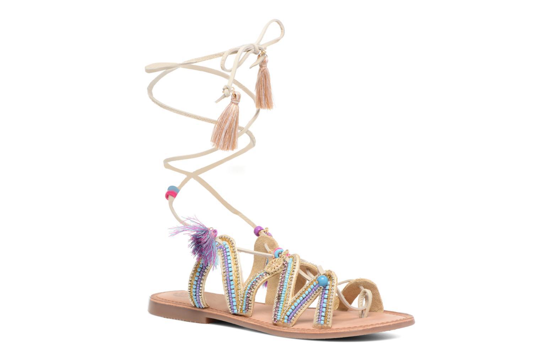 Sandales et nu-pieds Gioseppo Satanta Beige vue détail/paire