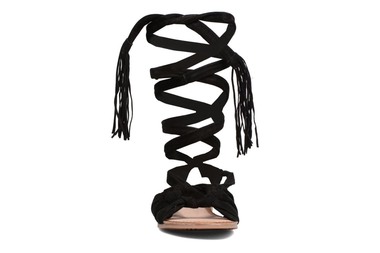 Sandales et nu-pieds Gioseppo Aladina Noir vue portées chaussures