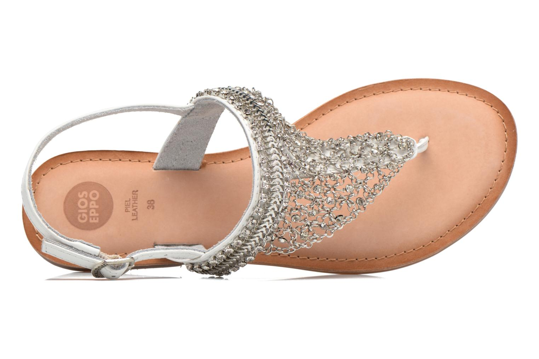Sandales et nu-pieds Gioseppo Myrna Blanc vue gauche