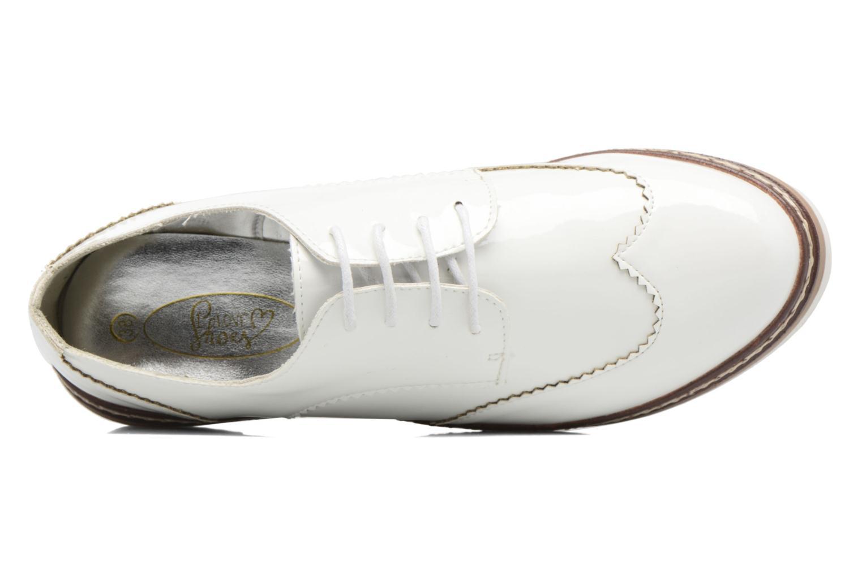 Zapatos con cordones I Love Shoes thalweg Blanco vista lateral izquierda