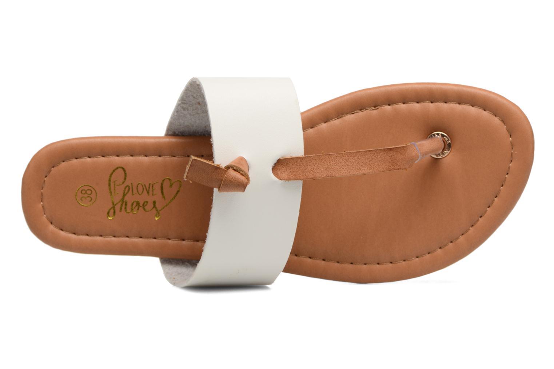 Sandales et nu-pieds I Love Shoes THIVUS Blanc vue gauche