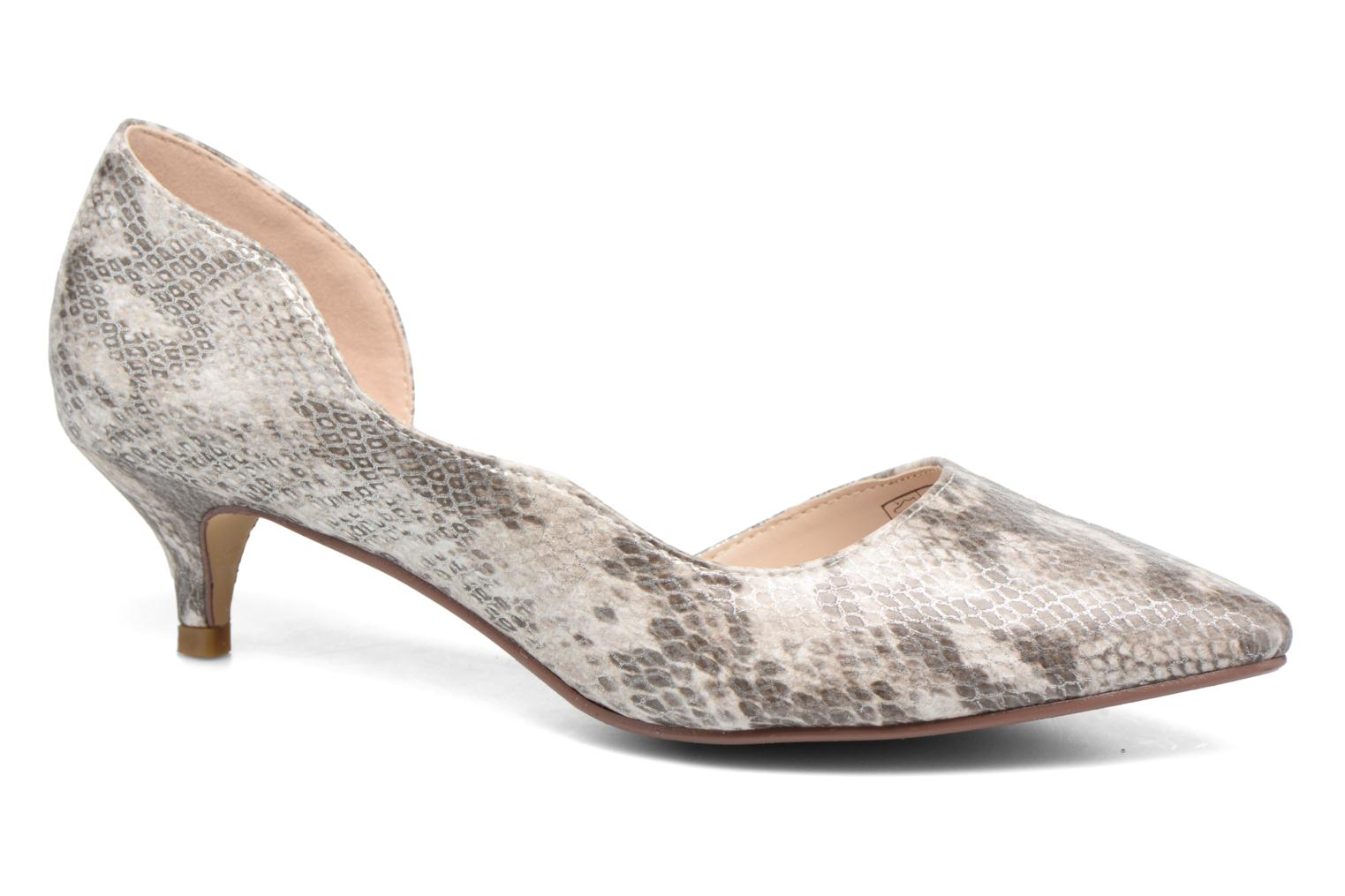 High heels I Love Shoes THETA Grey detailed view/ Pair view