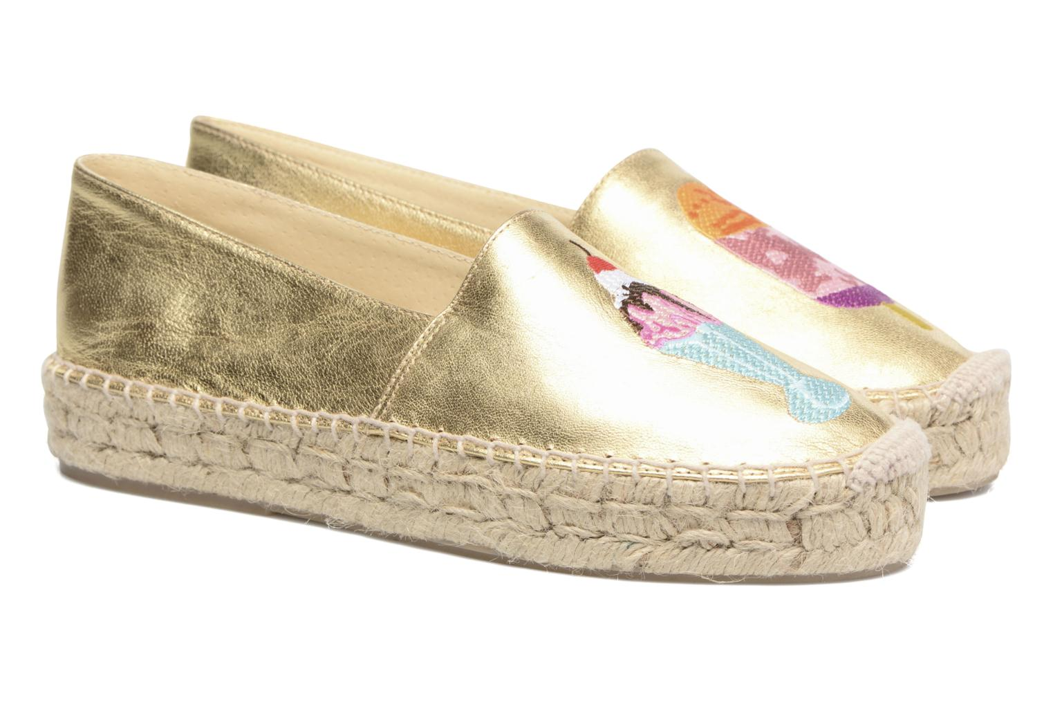 Espadrilles Apologie Yvette Bronze and Gold 3/4 view