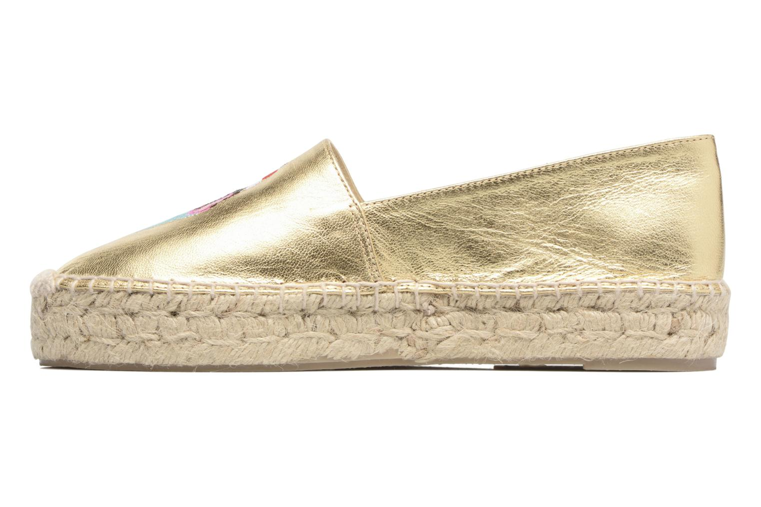 Espadrilles Apologie Yvette Bronze and Gold front view