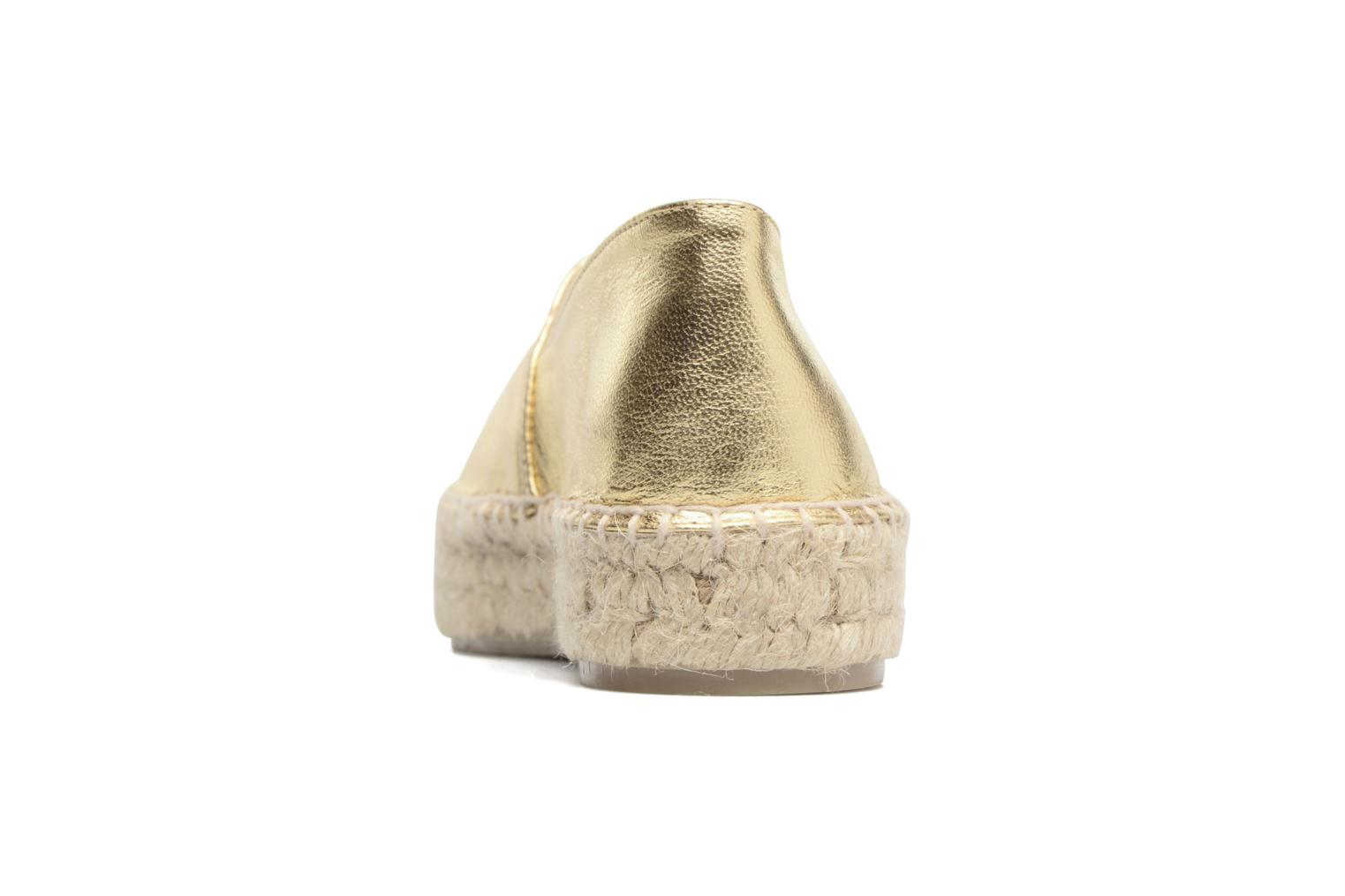 Espadrilles Apologie Yvette Bronze and Gold view from the right