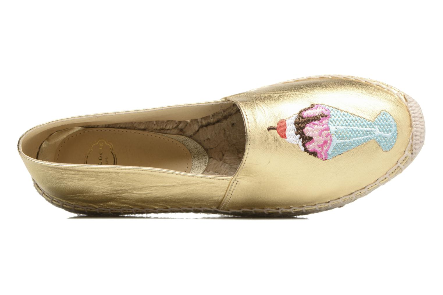 Espadrilles Apologie Yvette Bronze and Gold view from the left