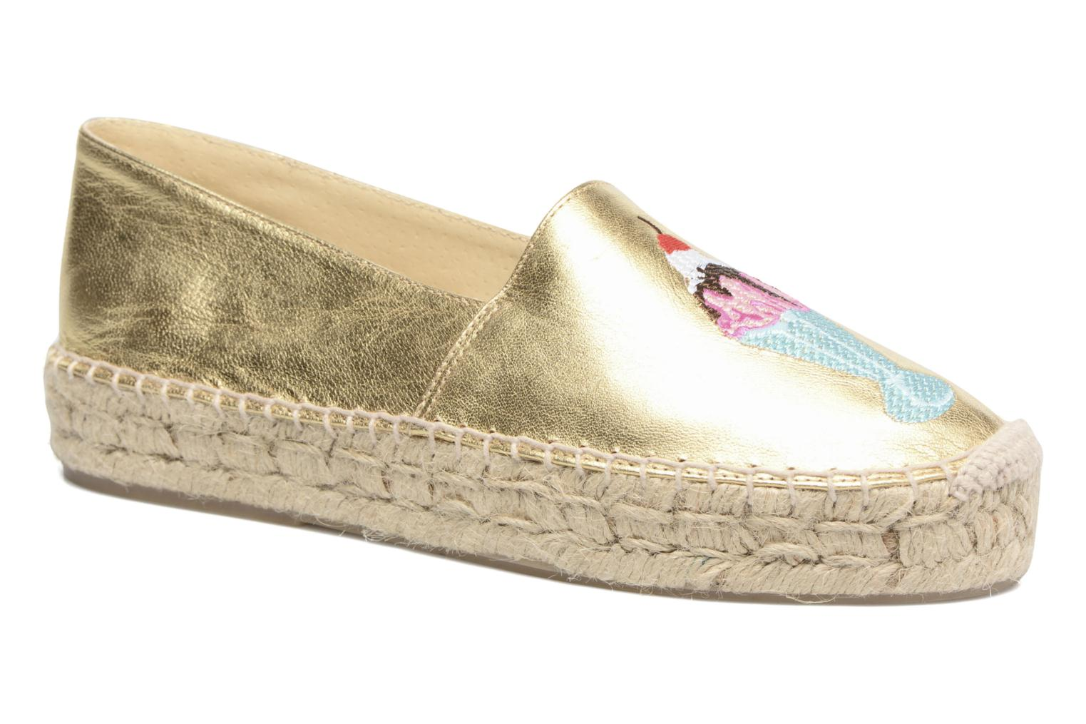 Espadrilles Apologie Yvette Bronze and Gold detailed view/ Pair view