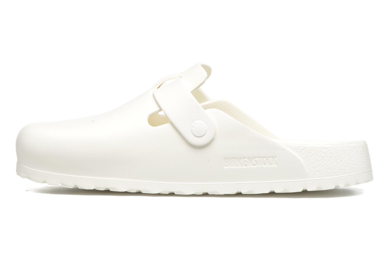 Sandales et nu-pieds Birkenstock Boston Eva Blanc vue face