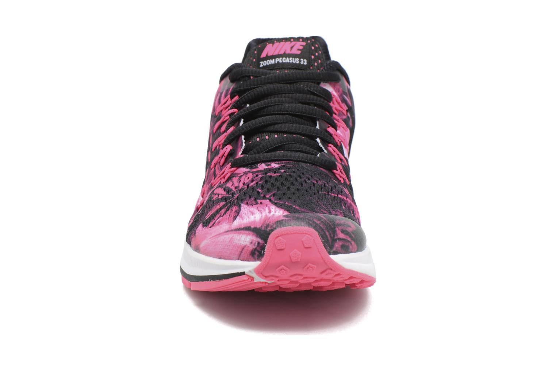 Nike Zoom Pegasus 33 Print (Gs) Black/Metallic Silver-White-Hyper Pink