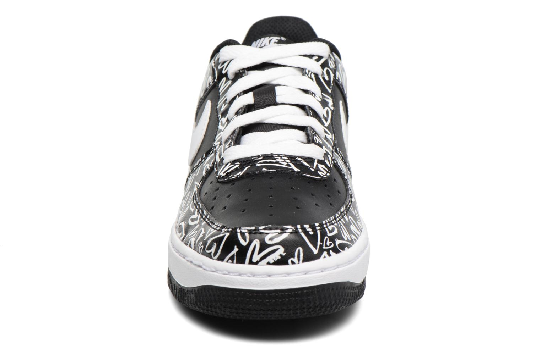 Sneakers Nike Air Force 1 Print (Gs) Nero modello indossato