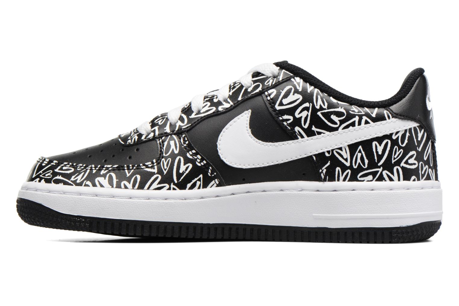 Sneakers Nike Air Force 1 Print (Gs) Nero immagine frontale