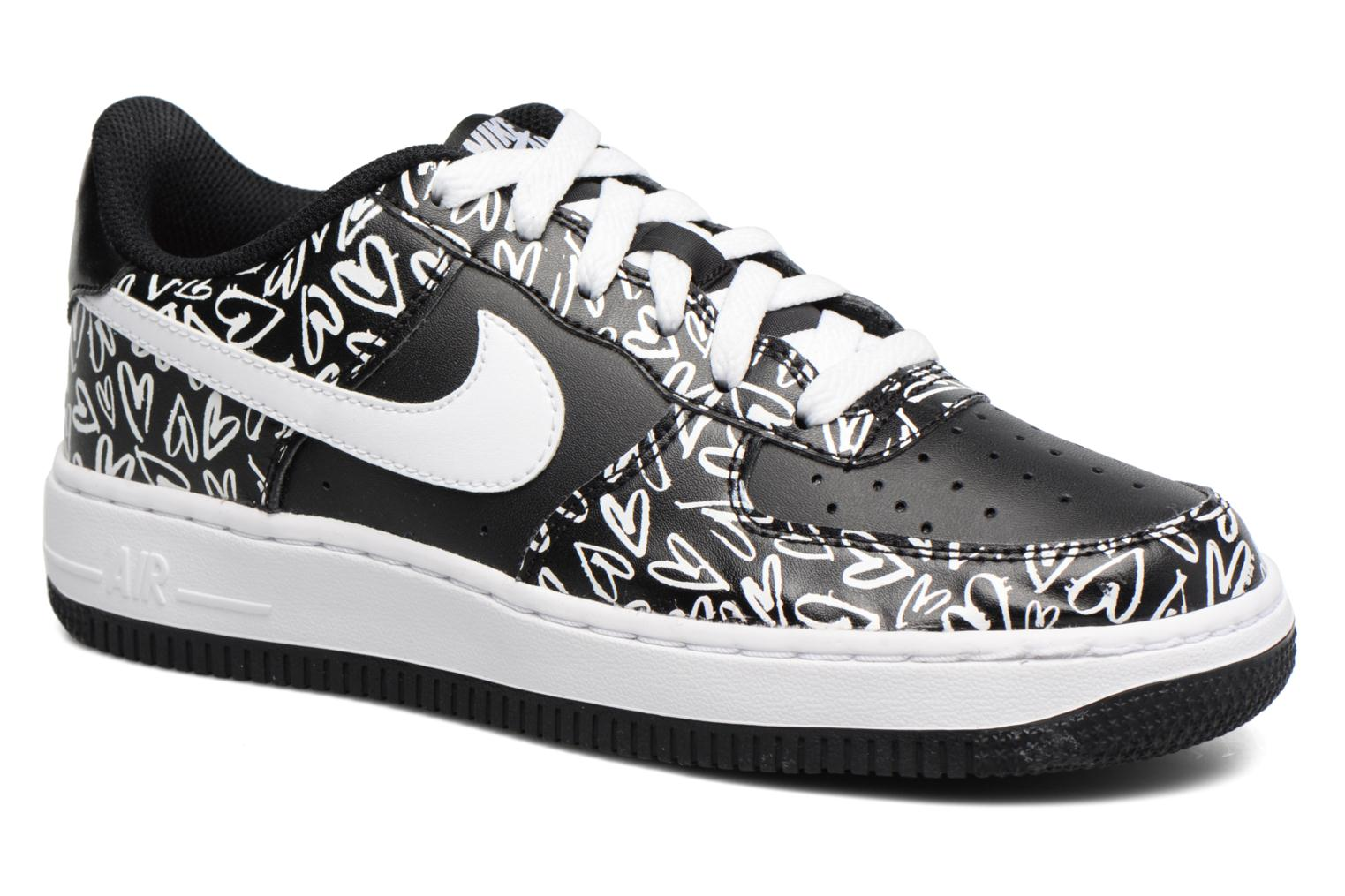 Air Force 1 Print (Gs) Black/White-Lava Glow