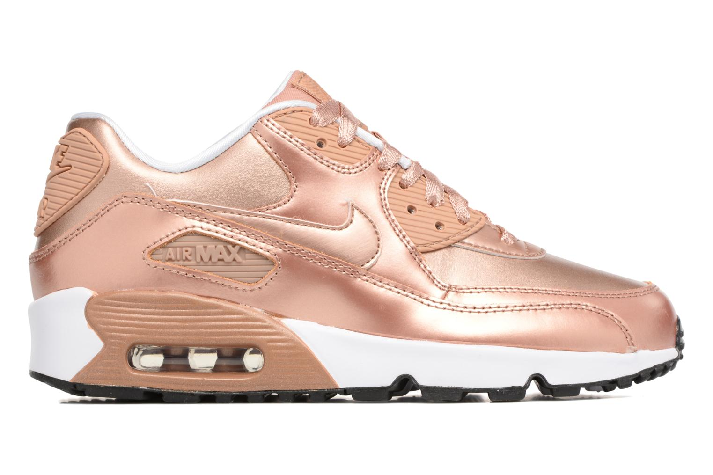 Baskets Nike Nike Air Max 90 SE Leather (Gs) Or et bronze vue derrière