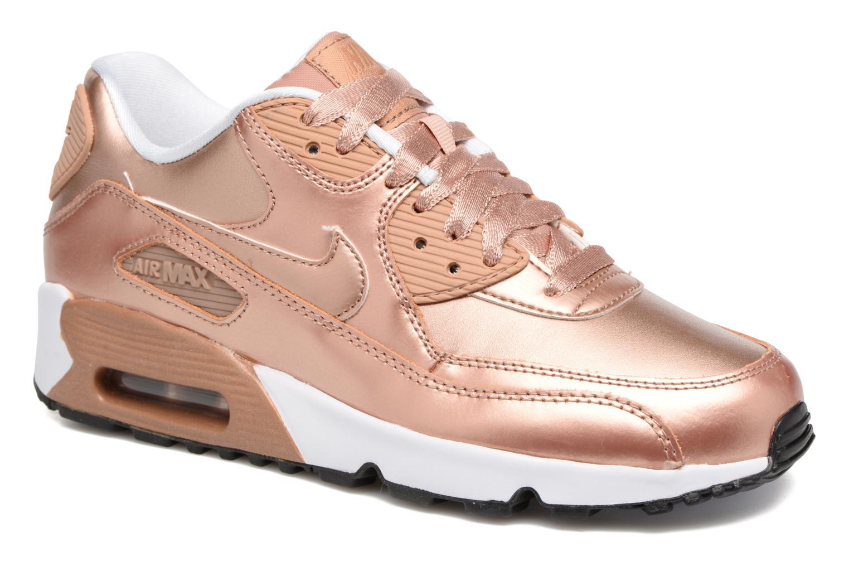 Baskets Nike Nike Air Max 90 SE Leather (Gs) Or et bronze vue détail/paire
