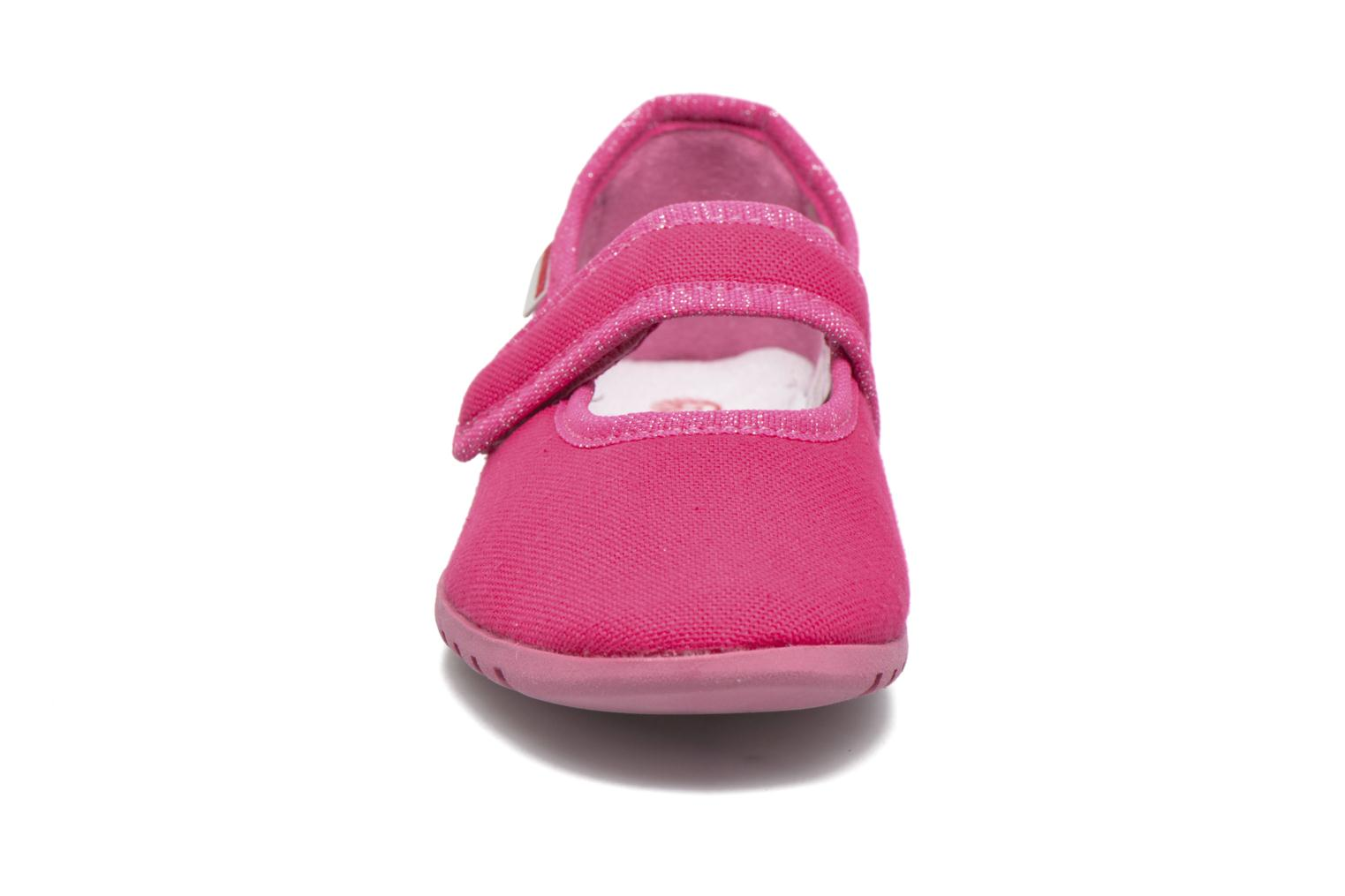 Chaussons Giesswein Liebsted Rose vue portées chaussures