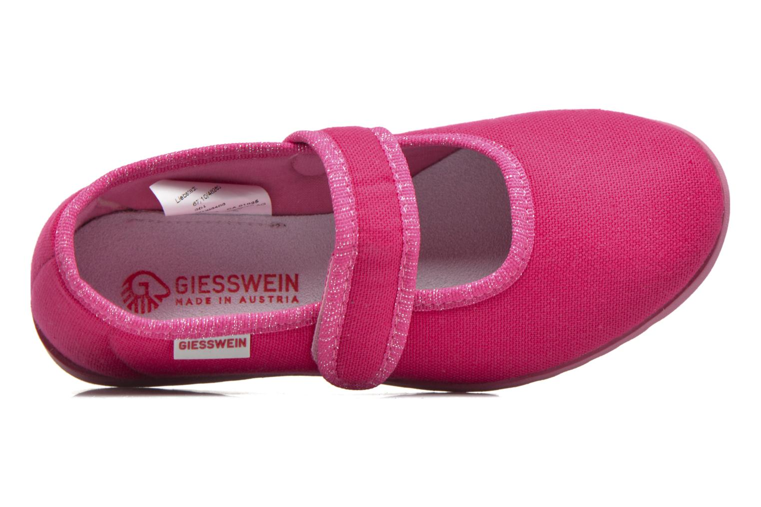 Pantoffels Giesswein Liebsted Roze links