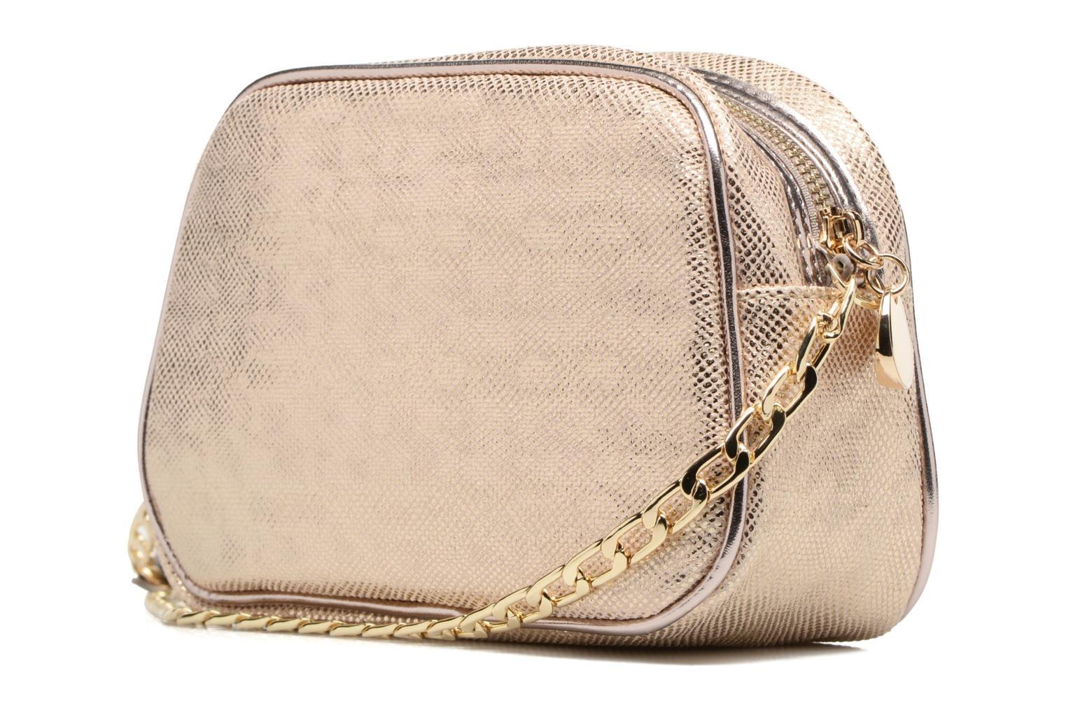Handbags Menbur NIDELLA Bronze and Gold view from the right