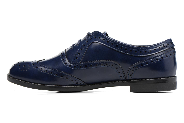 Snörade skor I Love Shoes KIBROG Blå bild från framsidan