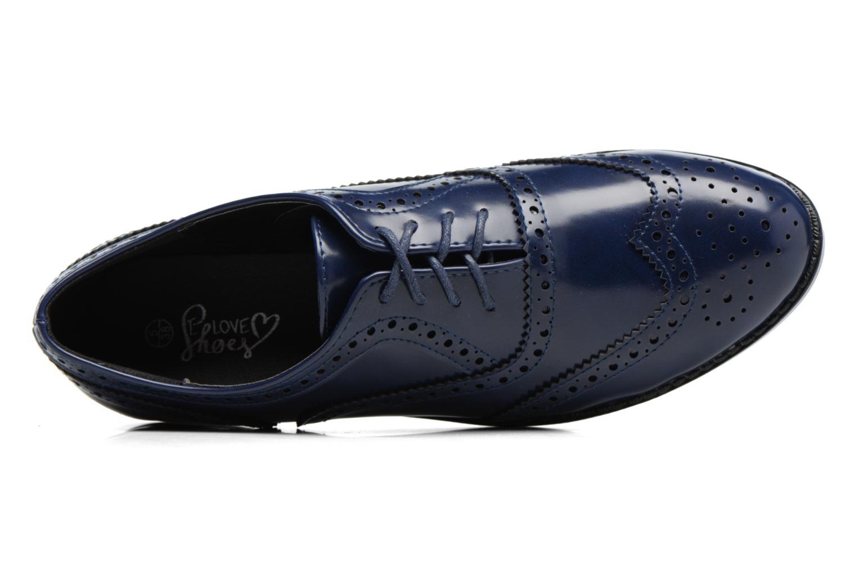 Snörade skor I Love Shoes KIBROG Blå bild från vänster sidan