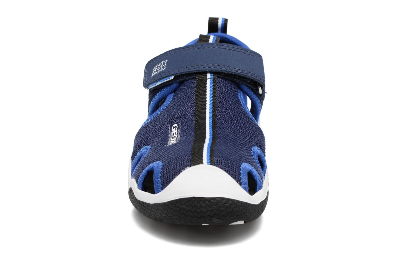 Sandales et nu-pieds Geox J Wader C - MeJ5230C Bleu vue portées chaussures