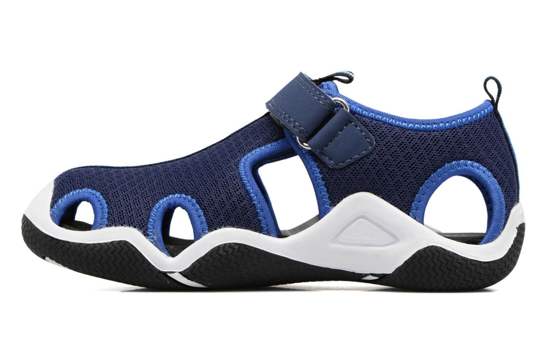 Sandales et nu-pieds Geox J Wader C - MeJ5230C Bleu vue face