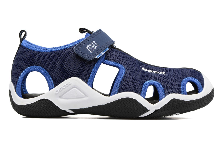 Sandales et nu-pieds Geox J Wader C - MeJ5230C Bleu vue derrière
