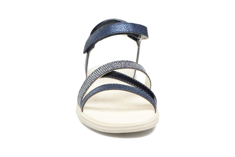 Sandales et nu-pieds Geox J S.Karly G.J5235D Bleu vue portées chaussures