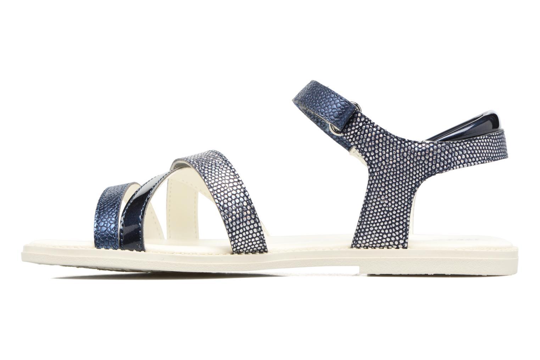 Sandales et nu-pieds Geox J S.Karly G.J5235D Bleu vue face