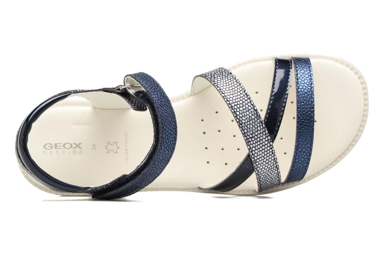 Sandales et nu-pieds Geox J S.Karly G.J5235D Bleu vue gauche