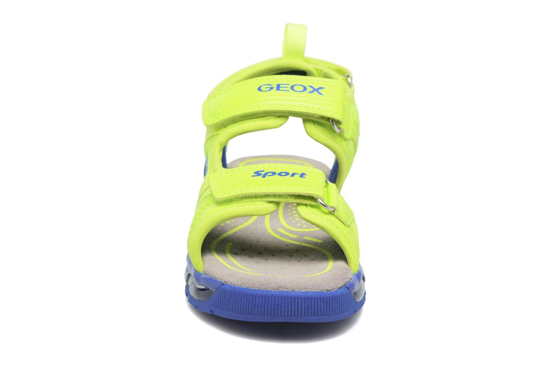 Sandales et nu-pieds Geox J S.Android B.B J720QB Jaune vue portées chaussures