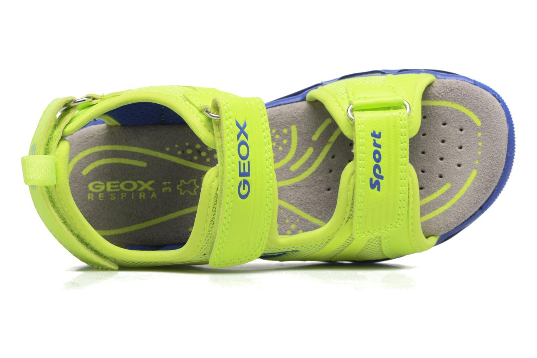 Sandales et nu-pieds Geox J S.Android B.B J720QB Jaune vue gauche