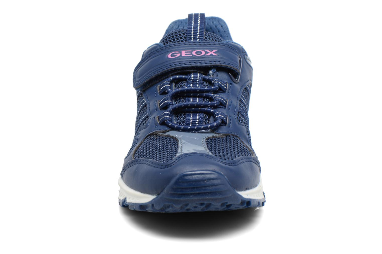 Baskets Geox J Bernie G. J7211A Bleu vue portées chaussures