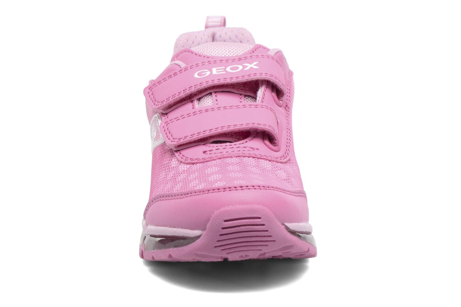 Baskets Geox J Android G. J7245B Rose vue portées chaussures
