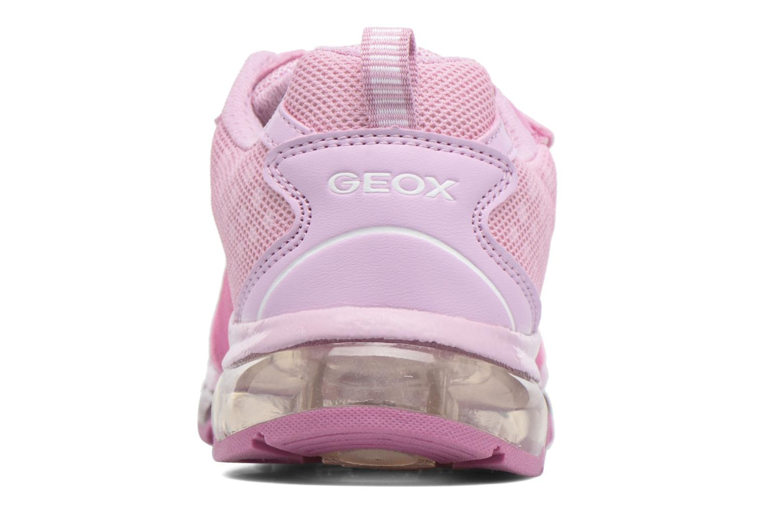 Baskets Geox J Android G. J7245B Rose vue droite