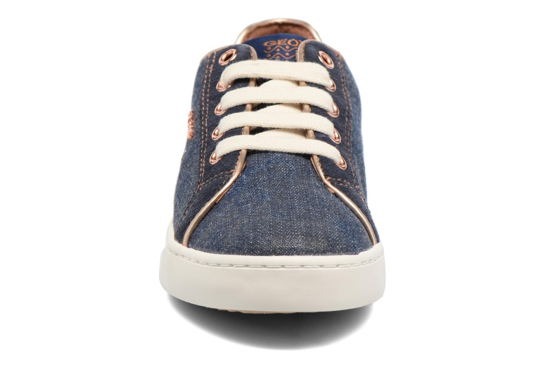 Baskets Geox J Kiwi G. B J72D5B Bleu vue portées chaussures