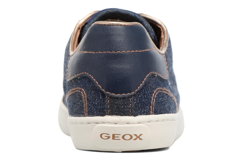 Baskets Geox J Kiwi G. B J72D5B Bleu vue droite