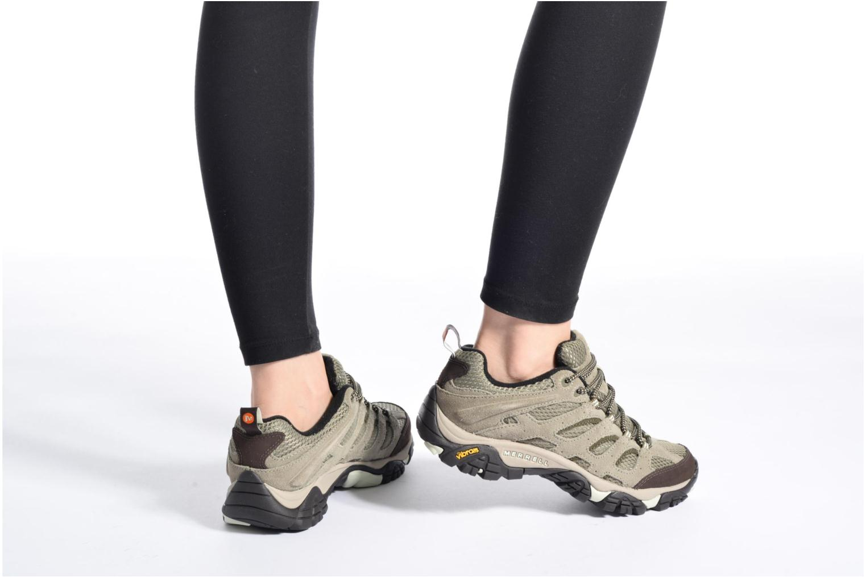 Chaussures de sport Merrell Moab Ventilator W Gris vue bas / vue portée sac