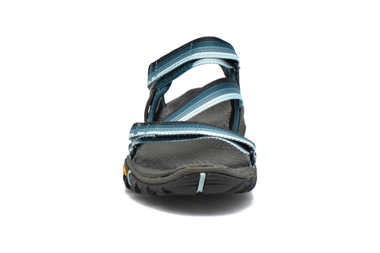 Chaussures de sport Merrell All Out Blaze Web W Bleu vue portées chaussures