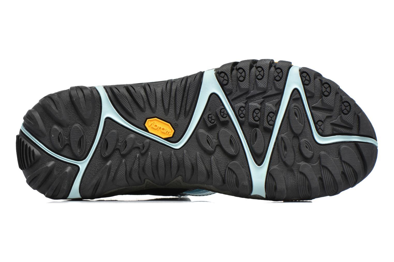 Chaussures de sport Merrell All Out Blaze Web W Bleu vue haut