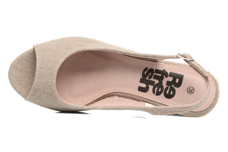 Sandales et nu-pieds Refresh Acma Beige vue gauche