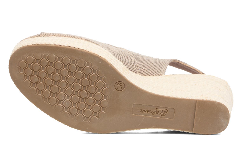 Sandales et nu-pieds Refresh Acma Beige vue haut