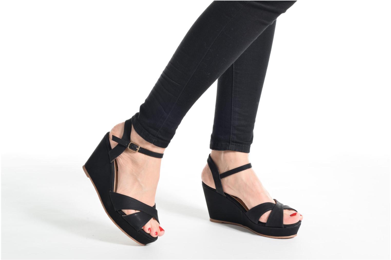 Sandales et nu-pieds Refresh Opar Marron vue bas / vue portée sac