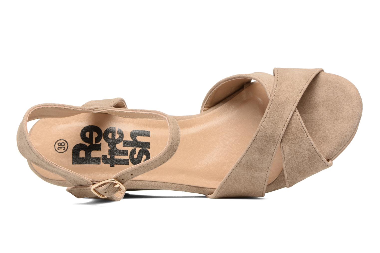 Sandales et nu-pieds Refresh Opar Marron vue gauche