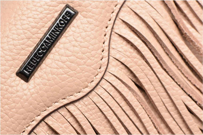 Sacs à main Rebecca Minkoff Fringe Leather crossbody phone holder Beige vue gauche