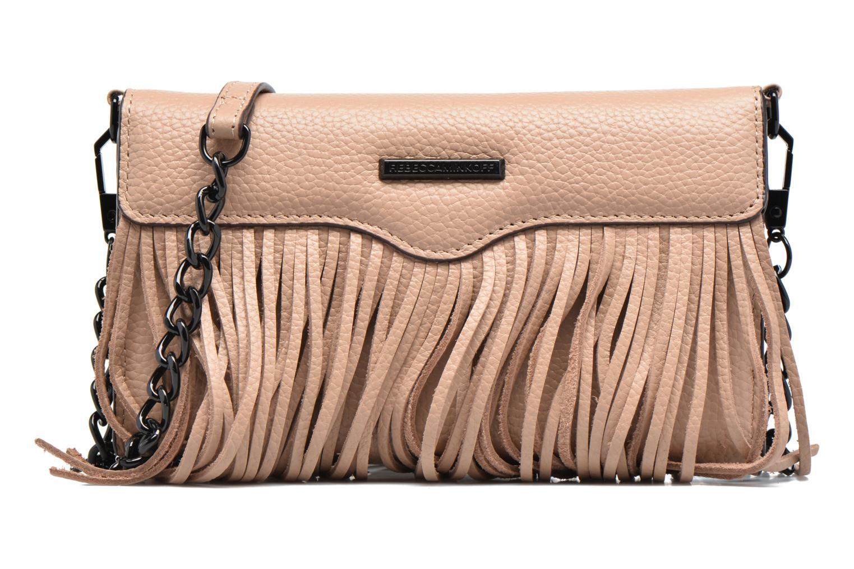 Sacs à main Rebecca Minkoff Fringe Leather crossbody phone holder Beige vue détail/paire