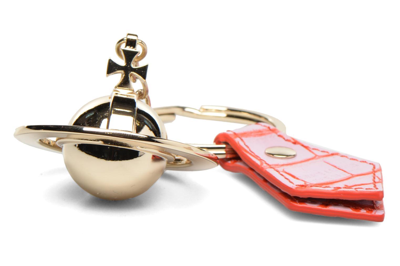 Round Orb Gold Keyholder Pink