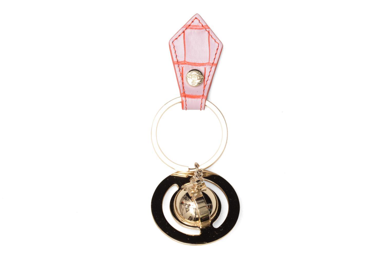 Divers Vivienne Westwood Round Orb Gold Keyholder Rose vue détail/paire