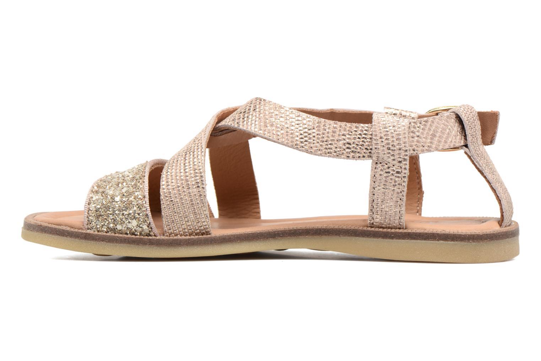 Sandales et nu-pieds Bisgaard Mia Or et bronze vue face
