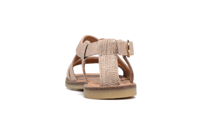 Sandales et nu-pieds Bisgaard Mia Or et bronze vue droite