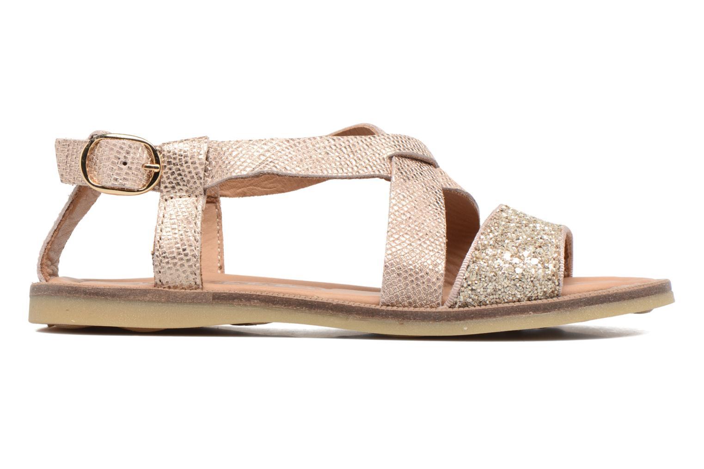 Sandales et nu-pieds Bisgaard Mia Or et bronze vue derrière